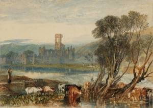 Kirkstall Abbey, on the River Aire 1824 by Joseph Mallord William Turner 1775-1851