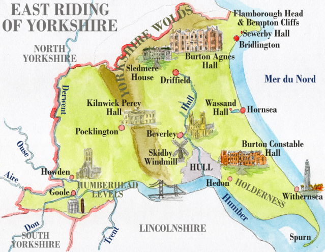 Carte de l'East Riding